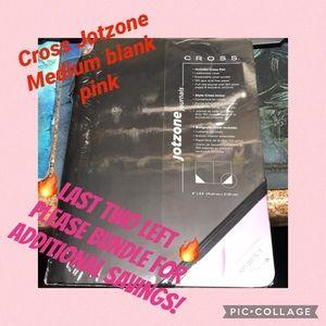 🔥Cross Jotzone Medium pink and black journal New
